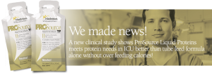 ProSource TF meets protein needs in ICU better.